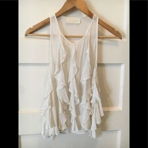 Anthropologie Love Sam ruffle top. Sz XS